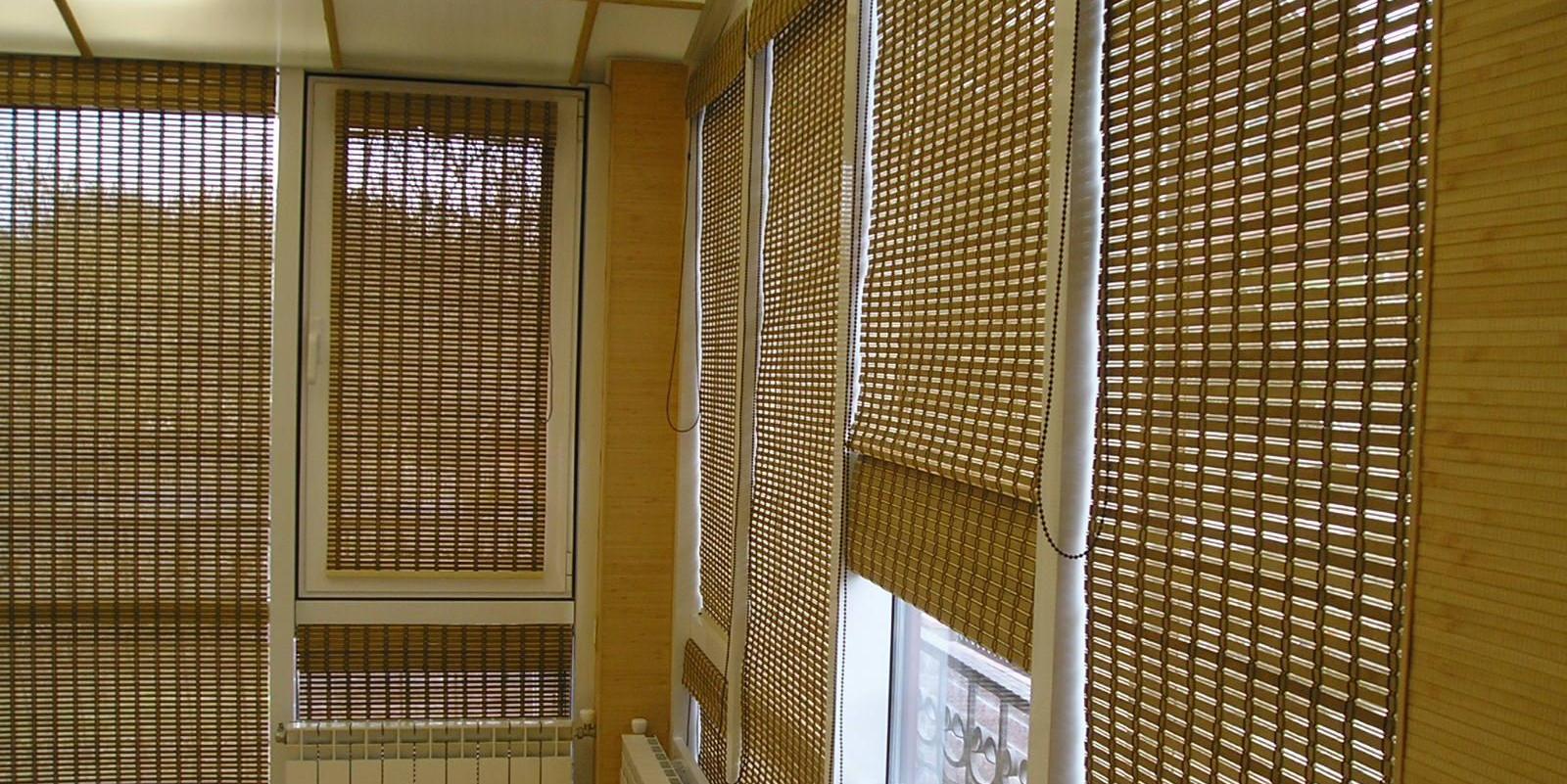 Горизонтальные бамбуковые жалюзи недорого - изготовление и м.